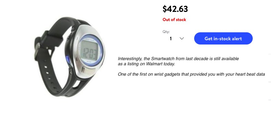 smartscan watch from 2010 with heartbeat