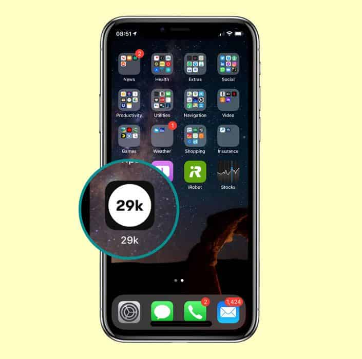 iPhone 29k app on Home Screen