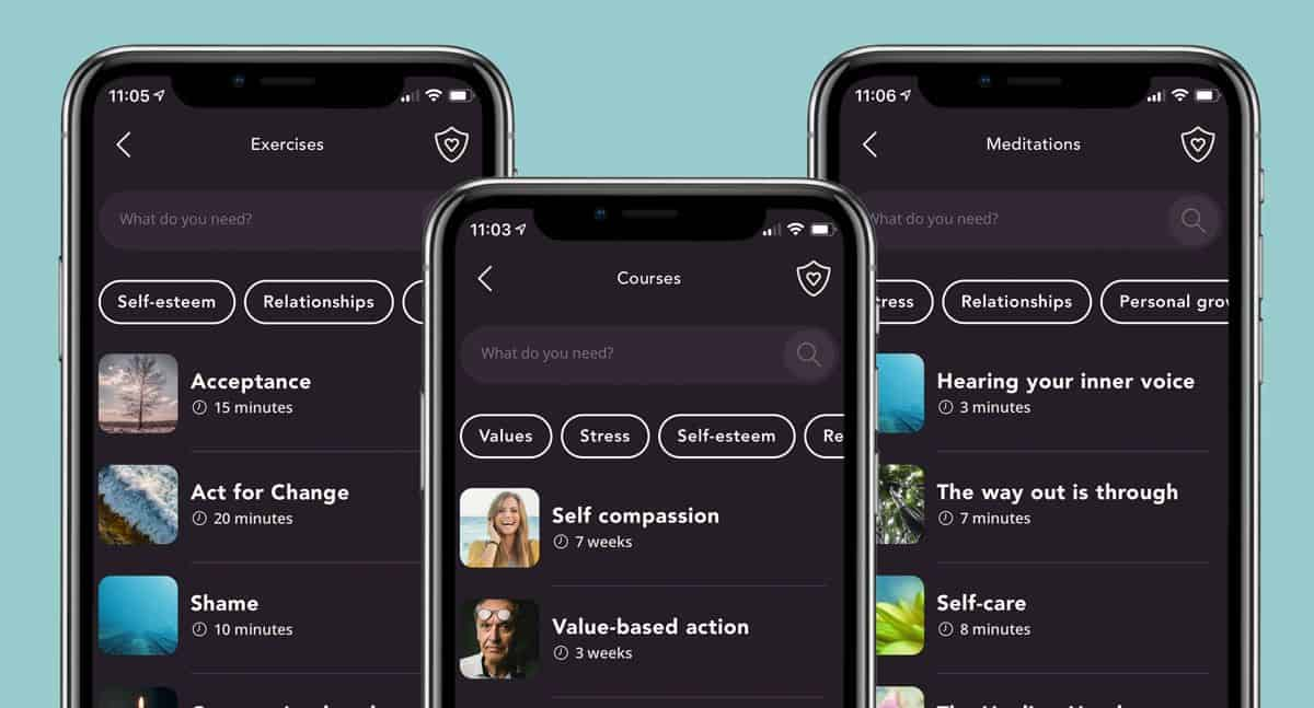 show 29k app features including courses, meditations, and exercises