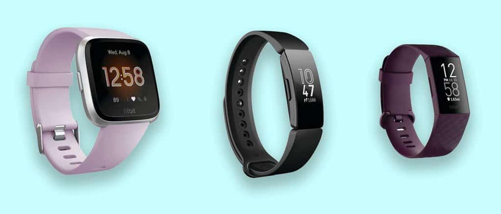 three different Fitbit models