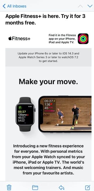 3 months free Apple Fitness+