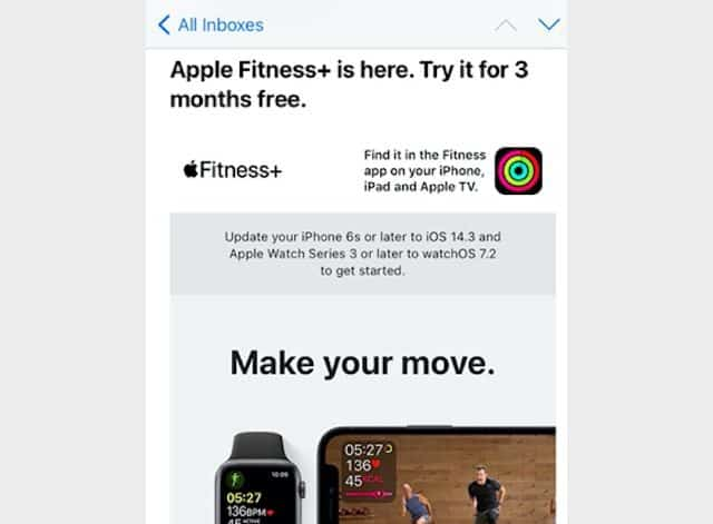 3 month Apple Fitness+ Trial code