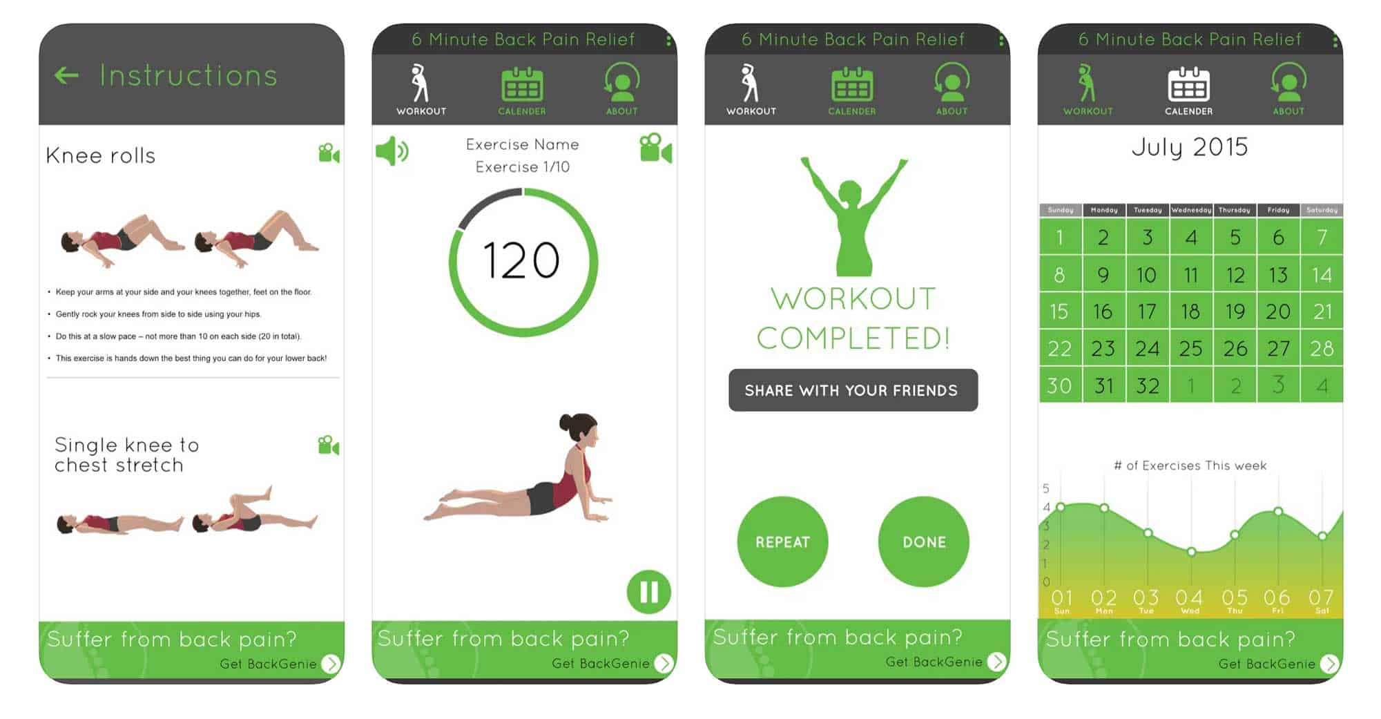 app for '6 Minute' Back Pain Relief
