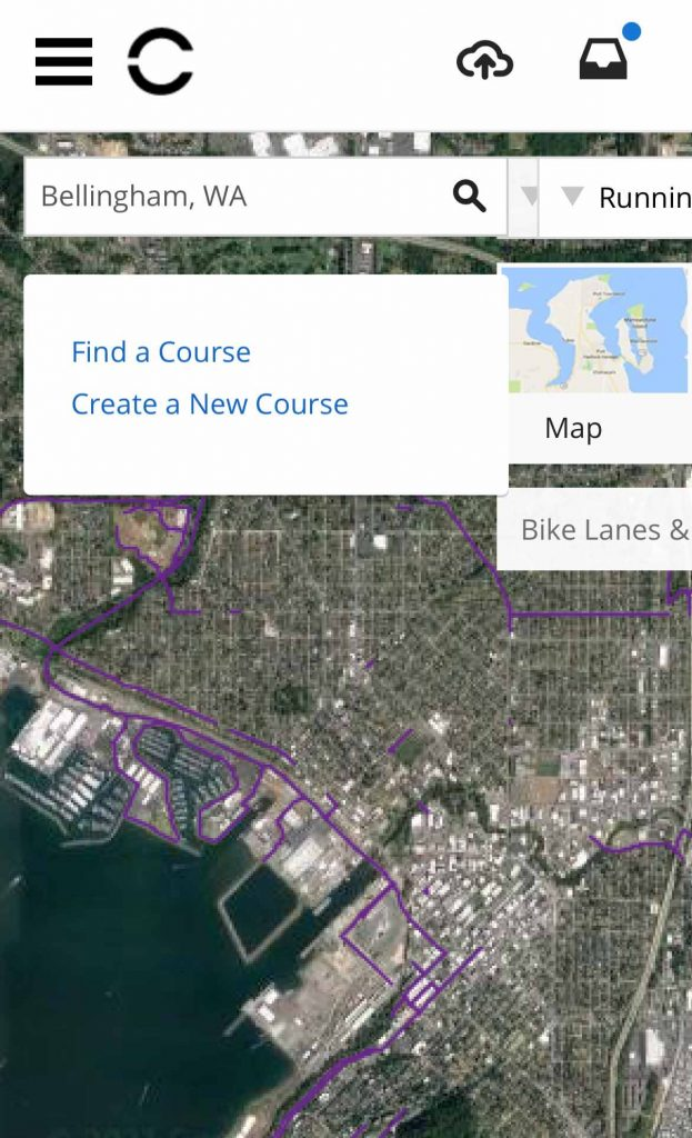 sample popularity heat map on Garmin Connects website on mobile