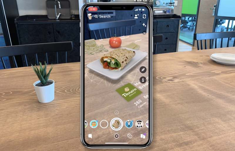 AR for calculating carb and insulin