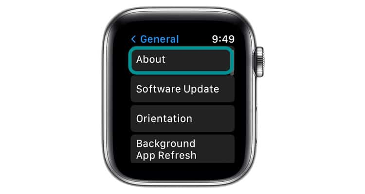 About settings on Apple Watch