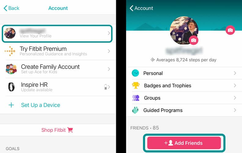 how to add friends using Fitbit's app