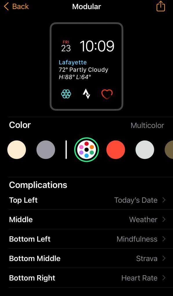 add Strava watch app complication to Apple Watch face