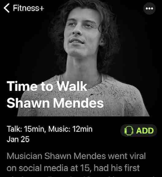 Add Time to Walk episode to Apple Watch