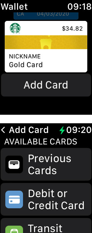 Apple Watch add a card to Apple Pay