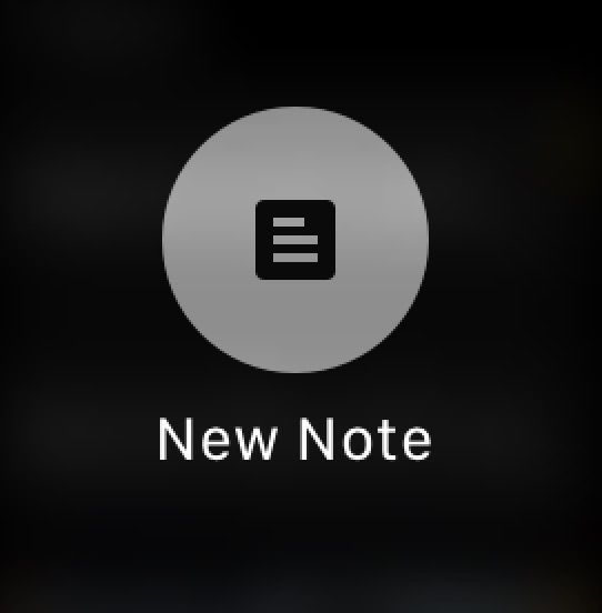 Add New Note to Google Keep on Apple Watch