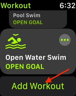 Add new workout to Apple Watch