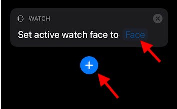 Add actions to Apple Watch Shortcut