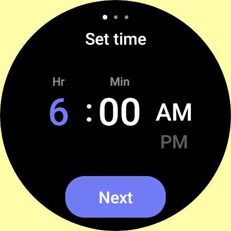 add alarm to Galaxy 4 watch using Alarm app