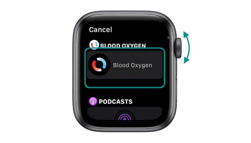 add blood oxygen app to apple watch complication