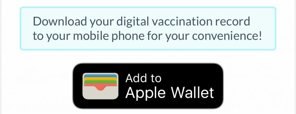 put your covid vaccine record into Apple Wallet app