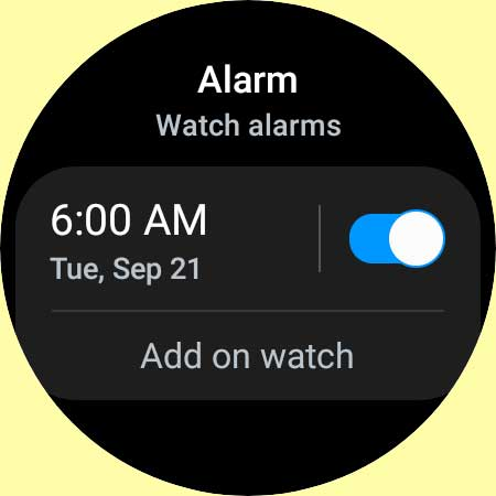set up multiple alarms on Samsung Galaxy Watch 4