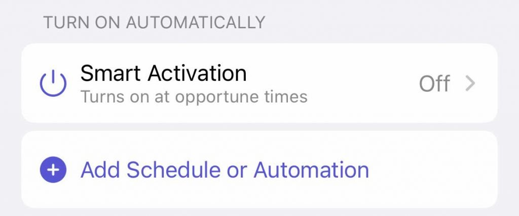 schedule your custom Focus on iOS 15+ for iPhone