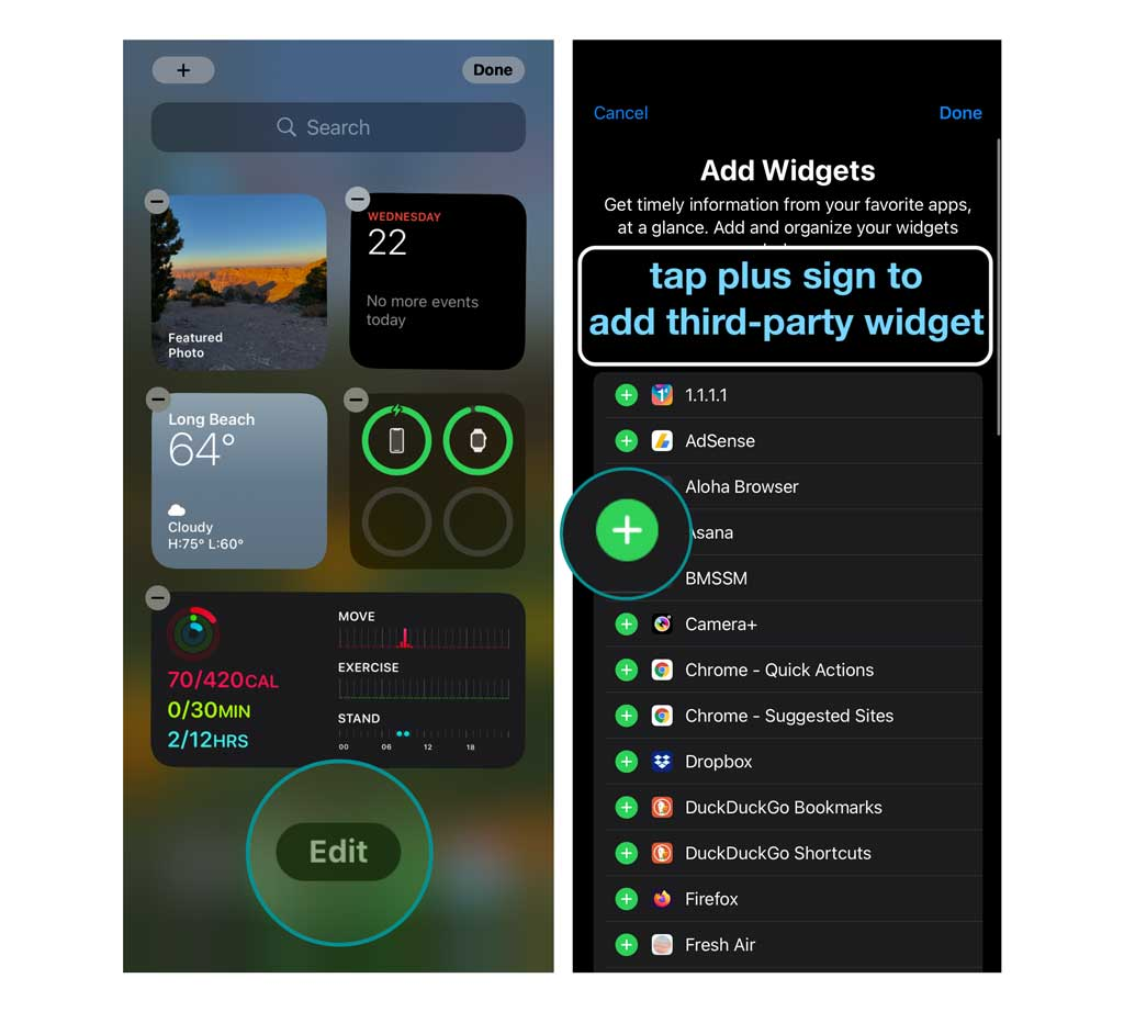 add third-party widgets to your iPhone using iOS 14 and above