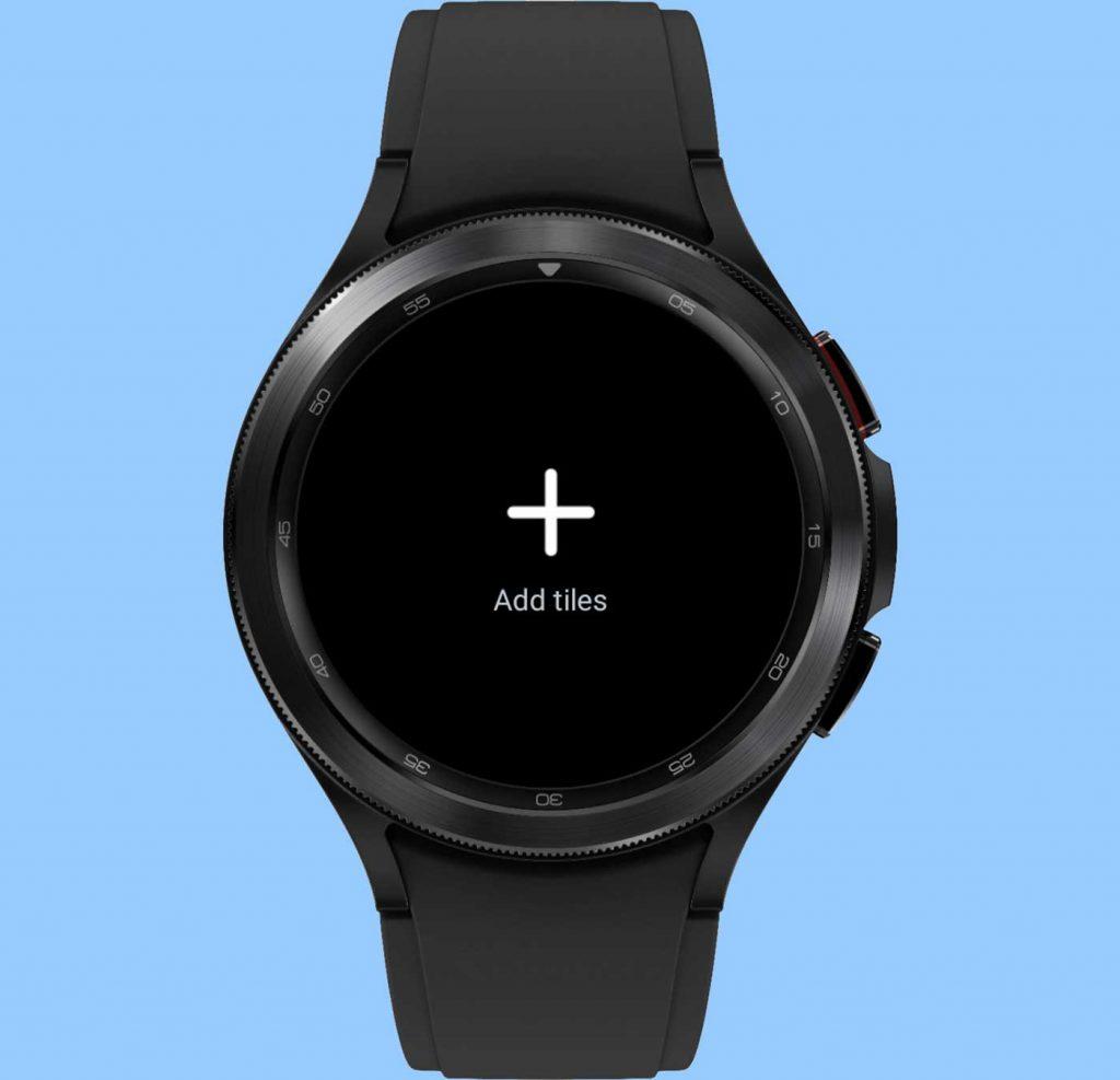 add tiles to Samsung Galaxy watch 4