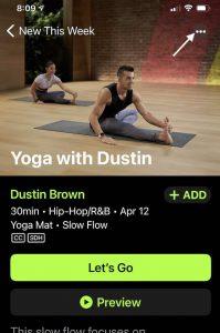 Add Apple Fitness+ workout to calendar
