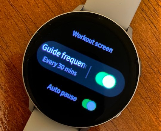 Adjust audio guide frequency on samsung galaxy watch