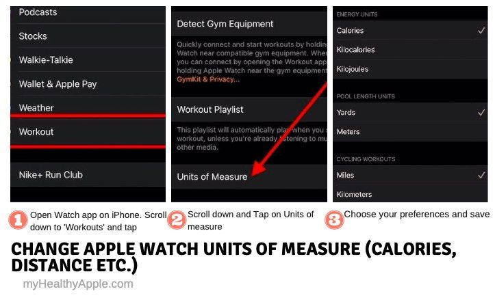 Adjust units of measure for Apple Watch