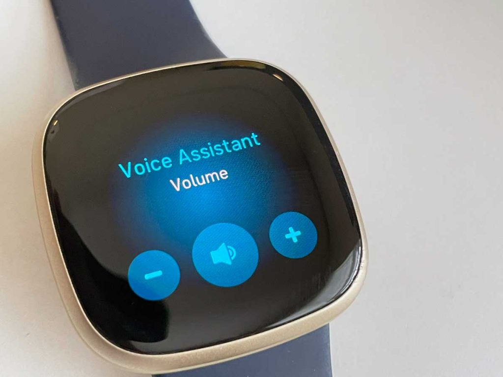 Change speaker volume for Alexa or Google Assistant on Fitbit watch