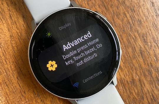 Advanced Settings on Samsung Galaxy watch