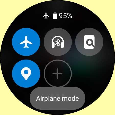Galaxy watch 4 airplane mode