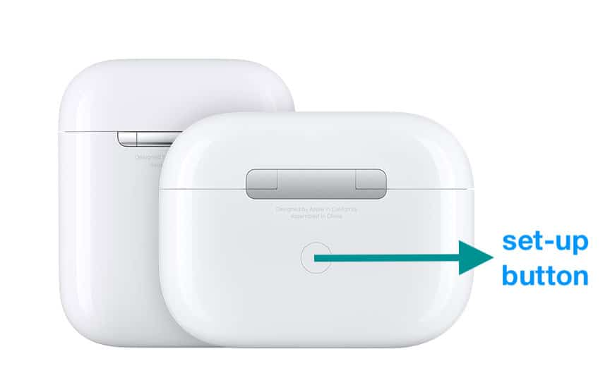 set up button on AirPods and AirPods Pro