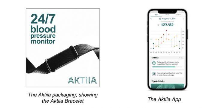 Aktiaa on-wrist Blood pressure monitor
