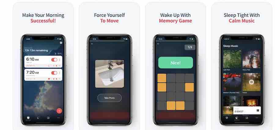 Alarmy app for deep sleepers