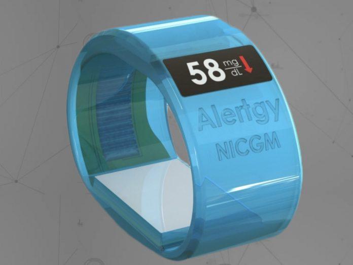 Alertgy noninvasive CGM wristband for blood glucose