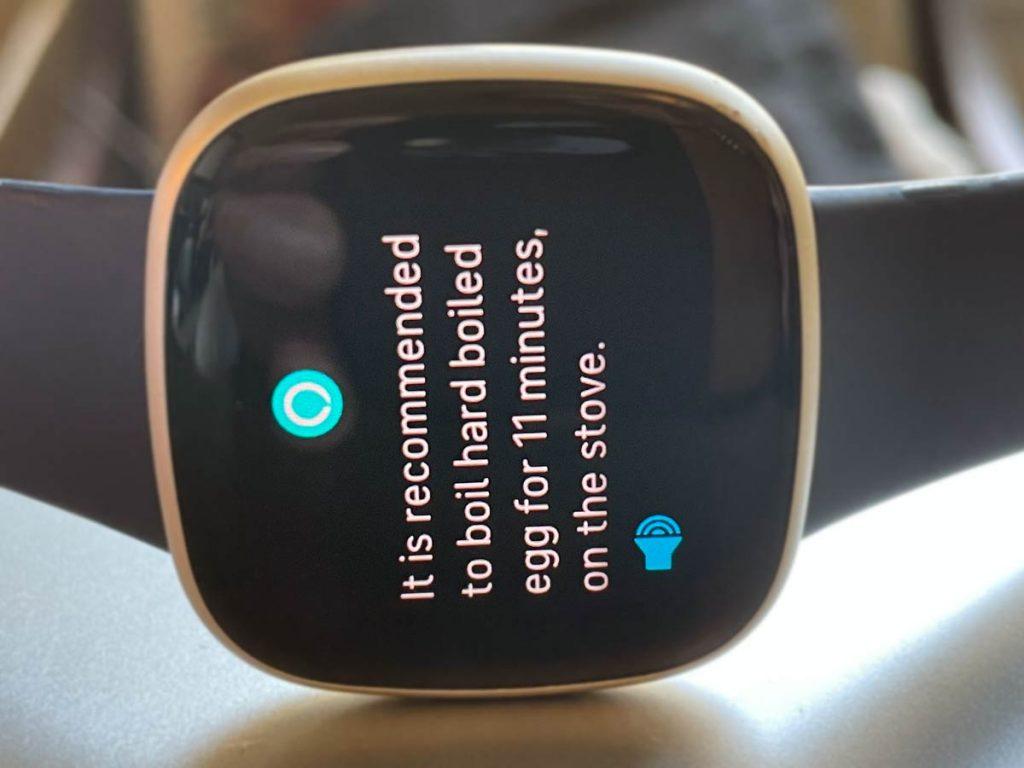 Fitbit Versa or Sense Amazon Alexa answers a question
