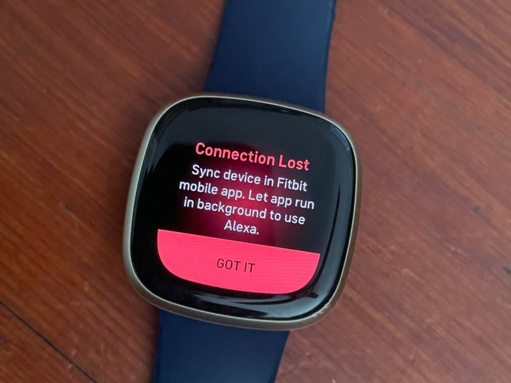 Connection Lost error on Fitbit with Alexa
