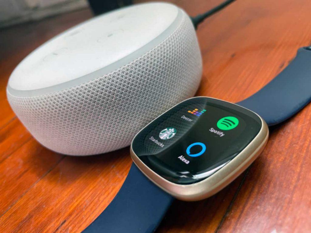 Amazon Echo Alexa speaker with Fitbit Alexa app
