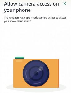Allow Camera access to Amazon Halo for movement assessment