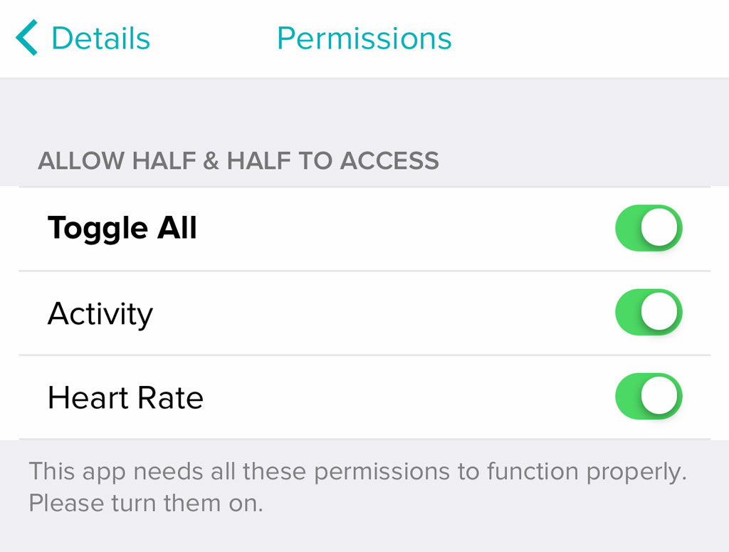 Fitbit app clock face permissions allow all