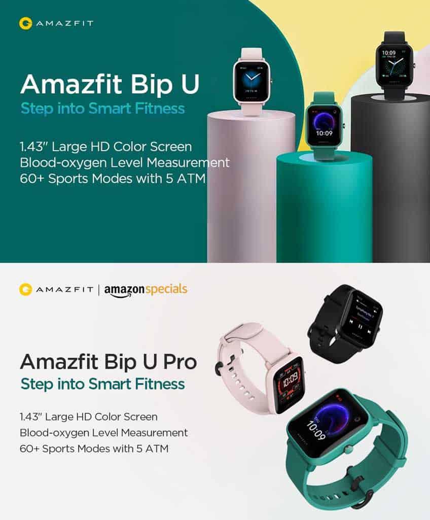 Bip U series smartwatches from Amazfit