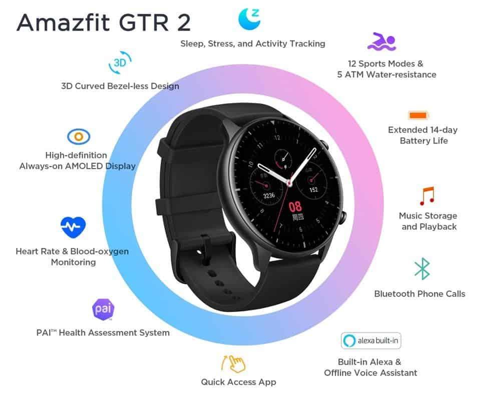 GTR 2 Amazfit all listed features