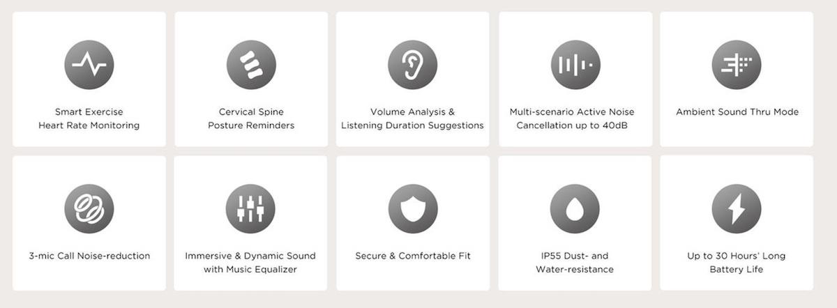 Amazfit PowerBuds Pro key features