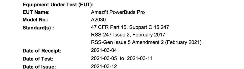Amazfit Powerbuds pro specs