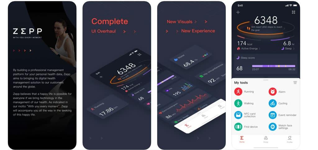 Zepp Health app for Amazfit smartwatches