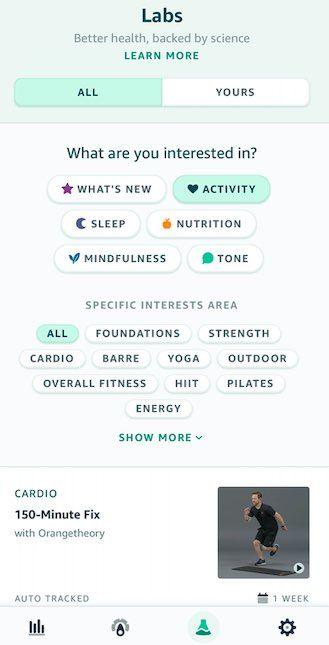 Amazon Halo fitness classes
