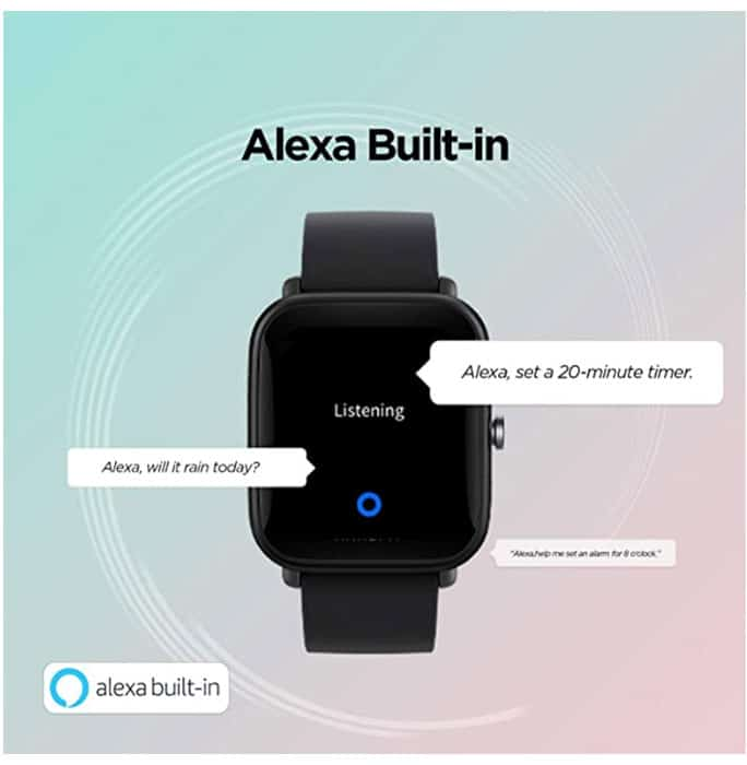 amazon alexa is built-in with the Amazfit Tip U pro