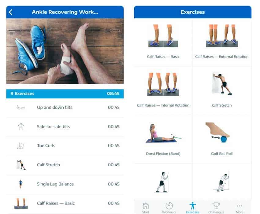 iOS app Ankle Exercises by Stefan Roobol