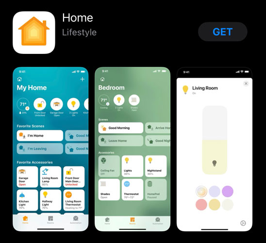 home app in the apple app store