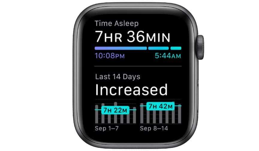 Apple Sleep app for Apple Watch