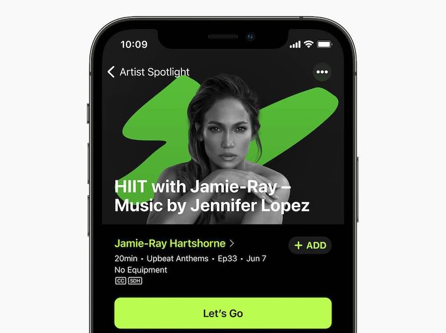 Apple Fitness+ new artists music